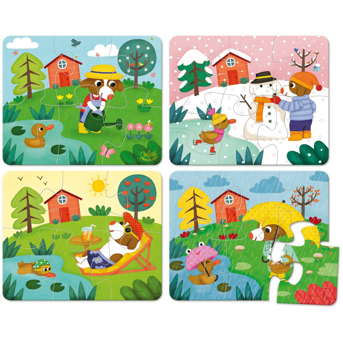 Vilac puzzles les 4 saisons mes premiers jouets vilac for Les jardins 4 saisons