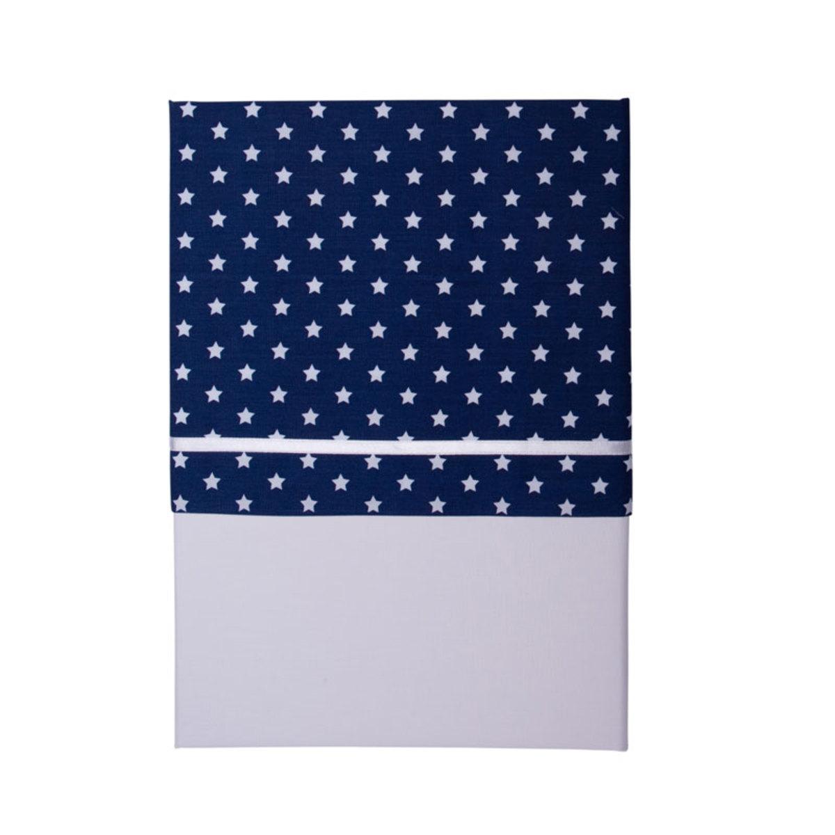 little dutch drap de lit bleu avec des etoiles blanches linge de lit little dutch sur l. Black Bedroom Furniture Sets. Home Design Ideas