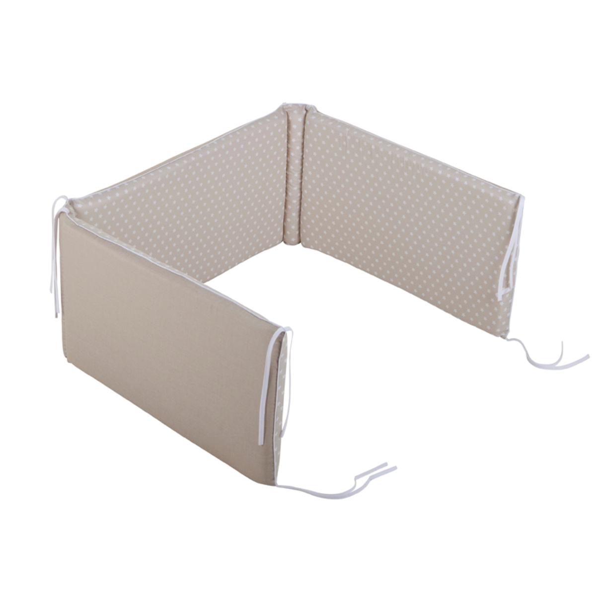 little dutch tour de lit beige etoiles blanches. Black Bedroom Furniture Sets. Home Design Ideas