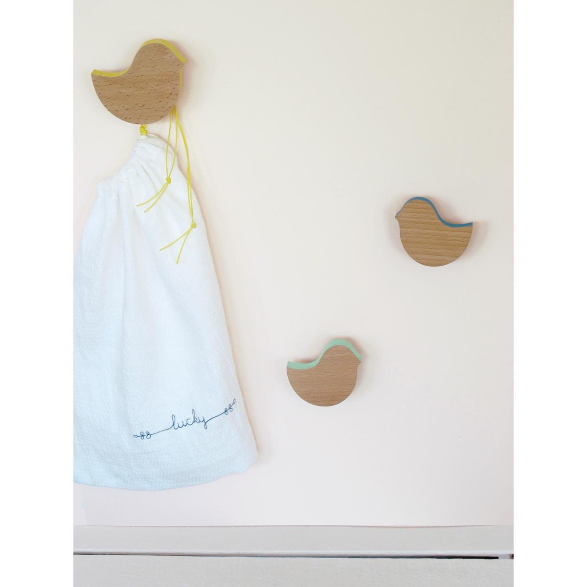 pat re oiseau large blanc b0041 achat vente porte manteau sur. Black Bedroom Furniture Sets. Home Design Ideas