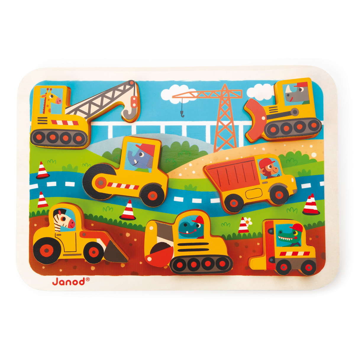 Mes premiers jouets Chunky Puzzle Véhicules Chantier Chunky Puzzle Véhicules Chantier