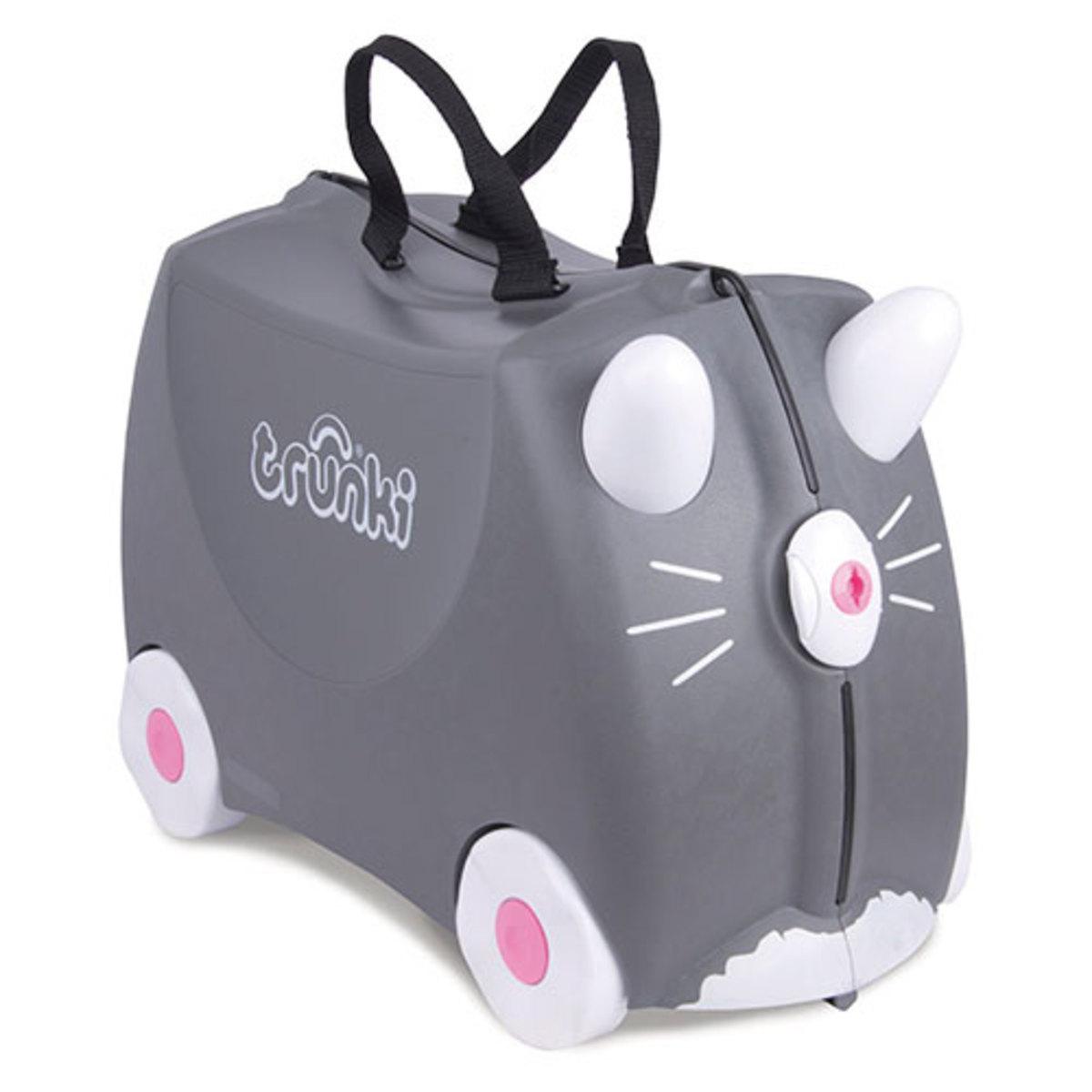 trunki valise chat benny bagagerie enfant trunki sur l 39 armoire de b b. Black Bedroom Furniture Sets. Home Design Ideas