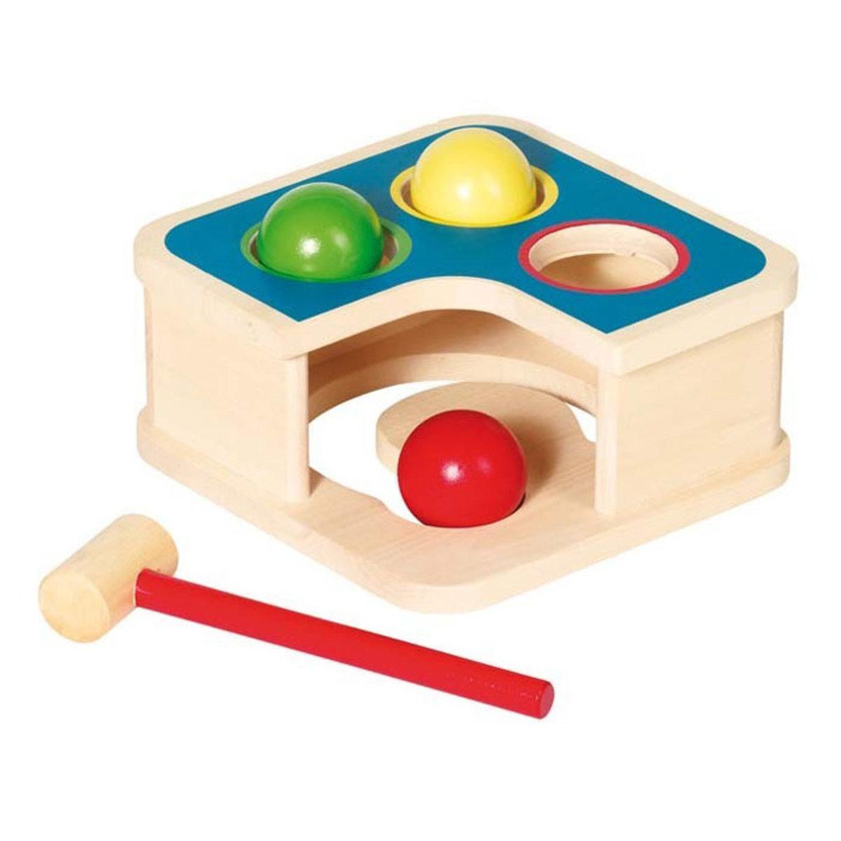 Mes premiers jouets Banc à Marteler et Toboggan à Boules Banc à Marteler et Toboggan à Boules
