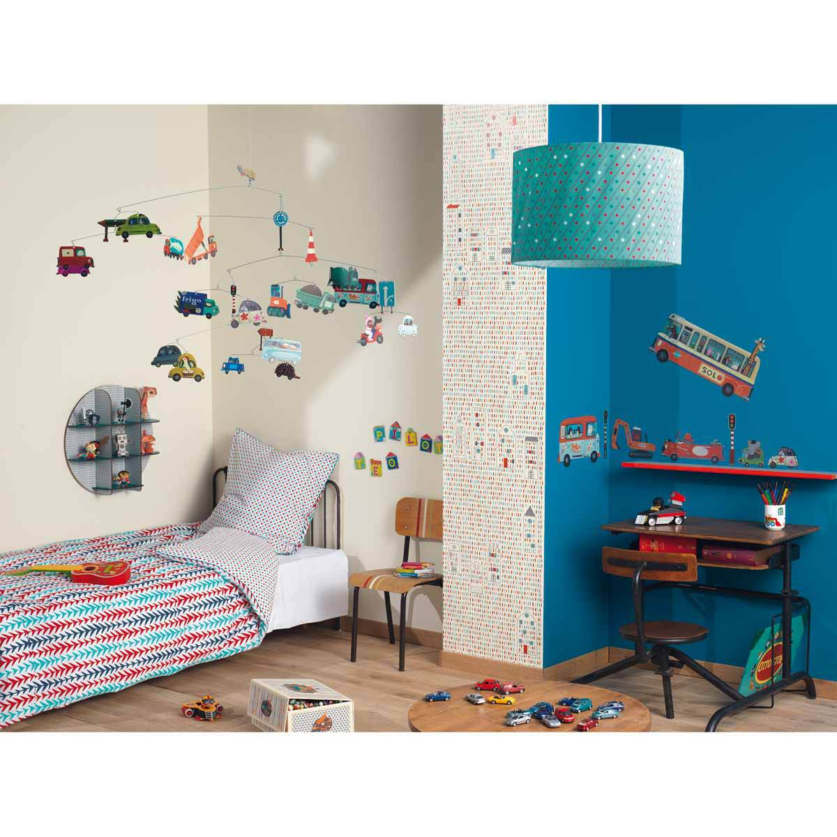 little big room taie d 39 oreiller carr e graphique t o linge de lit little big room sur l. Black Bedroom Furniture Sets. Home Design Ideas