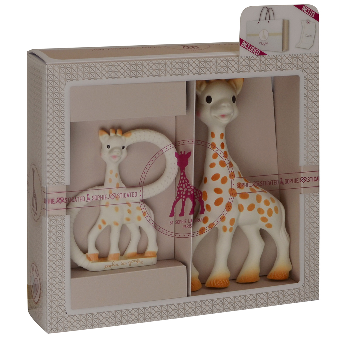 coffret sophie girafe. Black Bedroom Furniture Sets. Home Design Ideas
