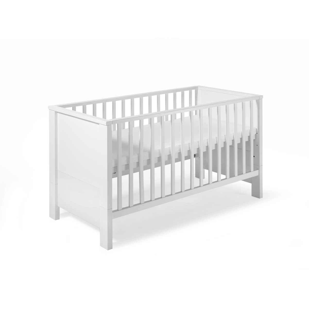 Lit b b 70 x 140 cm volutif milano blanc 046460202 - Lit enfant ajustable ...