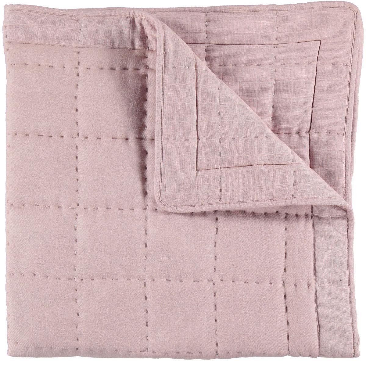 blanket boutis rose poudre 100 x 100 cm bbout1rp achat vente linge de lit sur. Black Bedroom Furniture Sets. Home Design Ideas