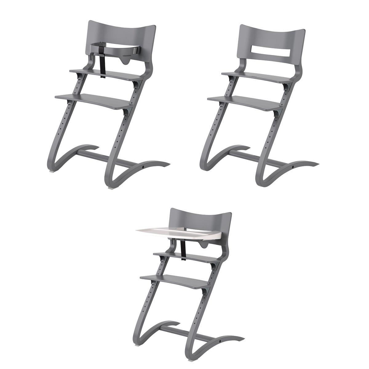 leander chaise haute evolutive gris chaise haute leander sur l 39 armoire de b b. Black Bedroom Furniture Sets. Home Design Ideas
