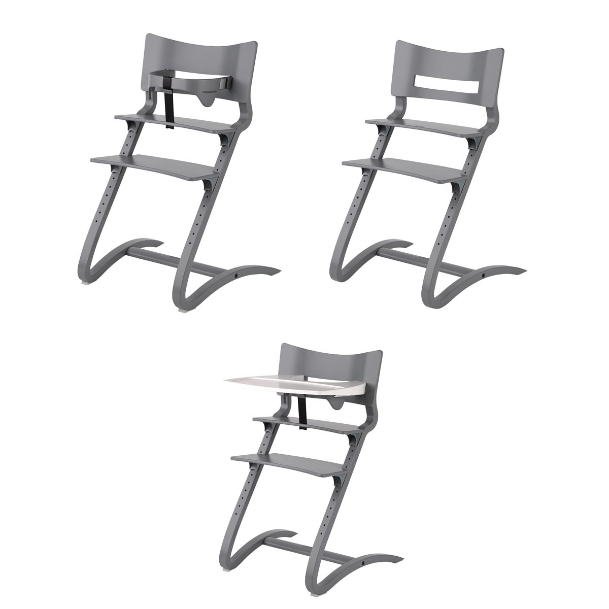 Chaise haute volutive gris chagri achat vente chaise haute - Chaise haute modulable ...