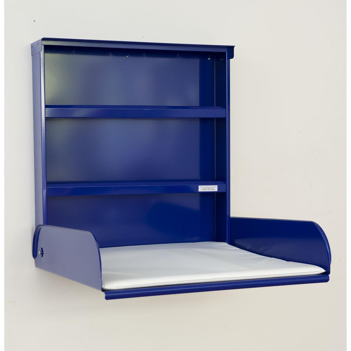 Bybo design table langer murale fifi bleu lectrique - Table a langer murale autour de bebe ...