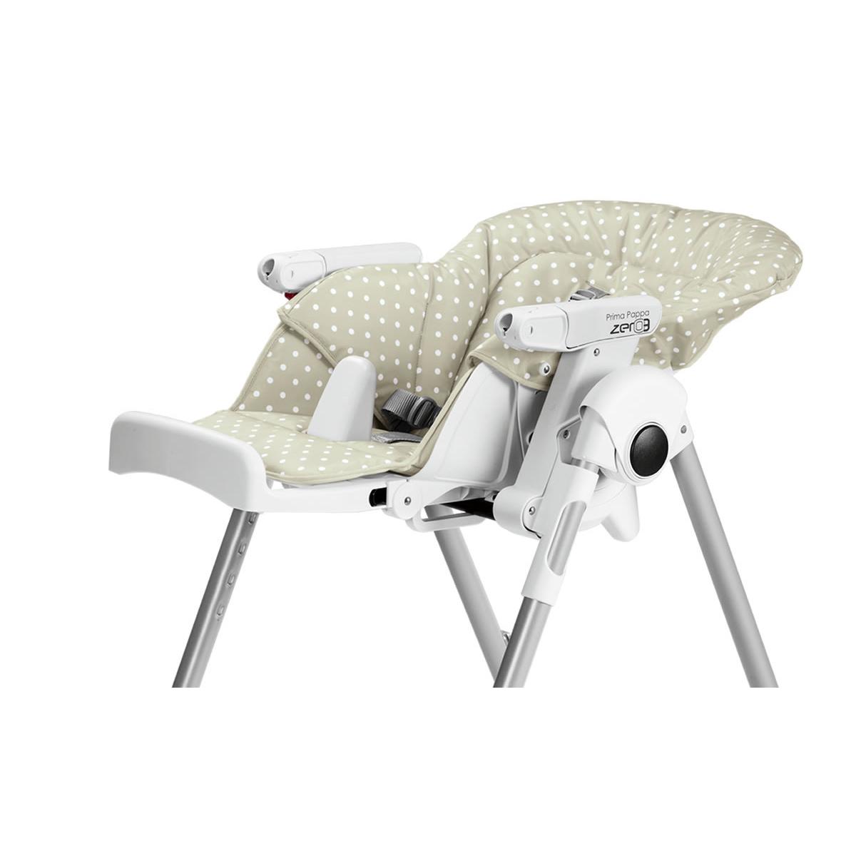 Peg p rego chaise prima pappa zero 3 baby dot beige for Acheter chaise haute