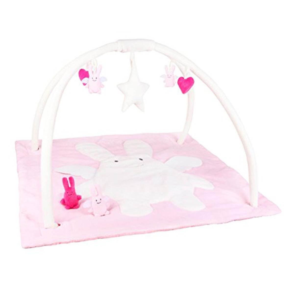 tapis d 39 veil musical ange lapin rose 90 cm vm10000 03. Black Bedroom Furniture Sets. Home Design Ideas