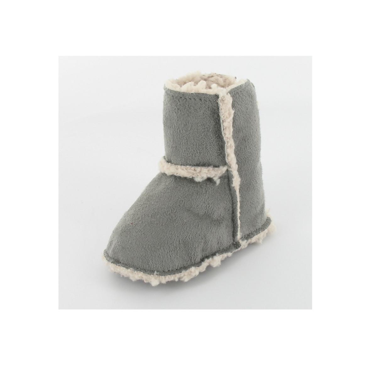 Mon petit chausson Bottes Fourrées Colline 0 3 mois - Gris - LDLC ... 59bfb7d7ad24
