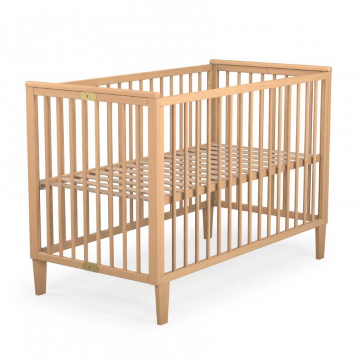 jurababy lit pliant h tre massif 60 x 120 naturel lit b b jurababy sur l 39 armoire de b b. Black Bedroom Furniture Sets. Home Design Ideas