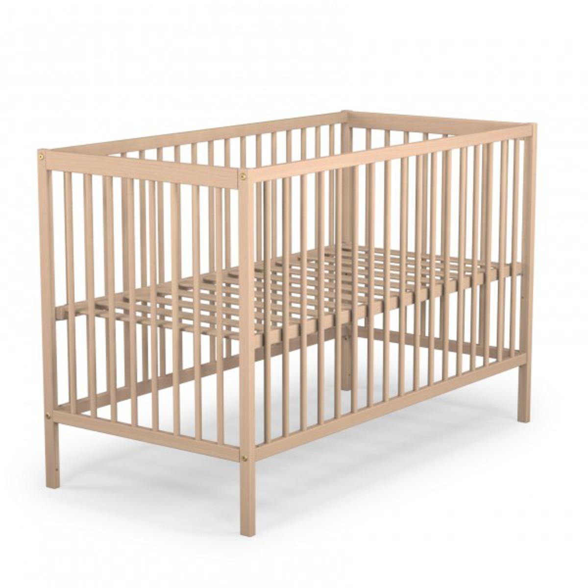 lit bébé 60 x 120 - naturel (13056410) : achat / vente lit bébé sur