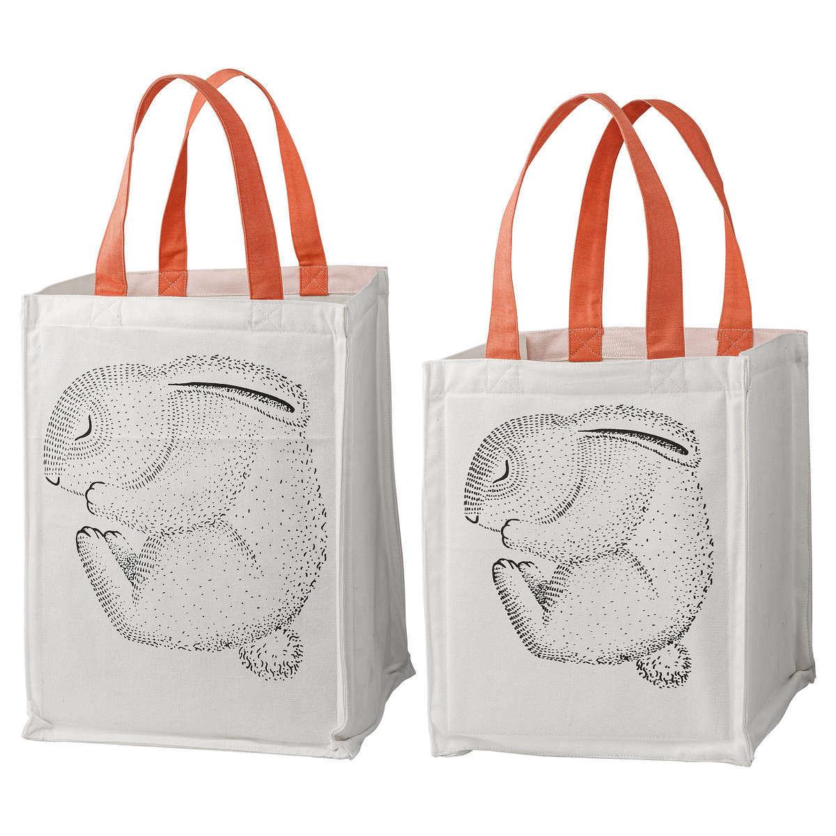 bloomingville lot de 2 sacs de rangement lapin rangement jouet bloomingville sur l 39 armoire. Black Bedroom Furniture Sets. Home Design Ideas
