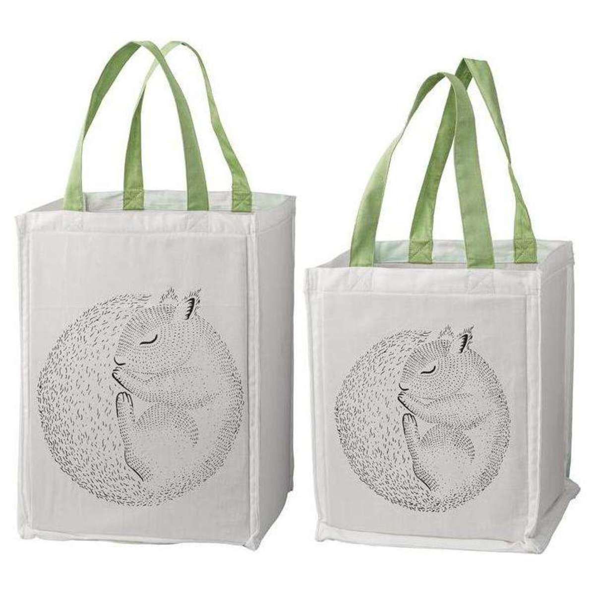 bloomingville lot de 2 sacs de rangement ecureuil rangement jouet bloomingville sur l. Black Bedroom Furniture Sets. Home Design Ideas