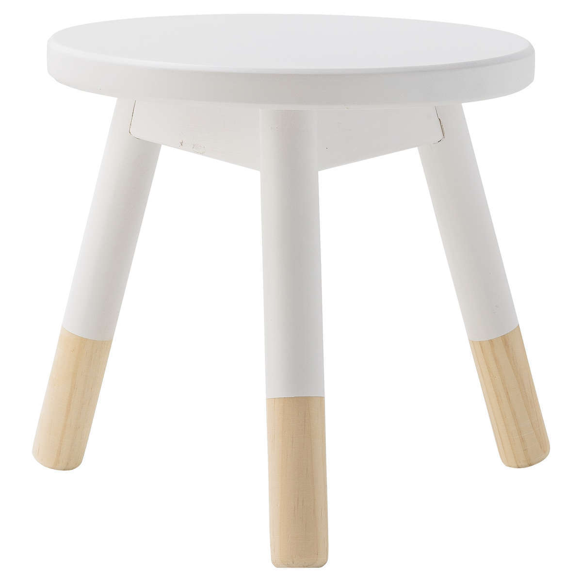 tabouret en bois blanc 50201167 achat vente table chaise sur. Black Bedroom Furniture Sets. Home Design Ideas