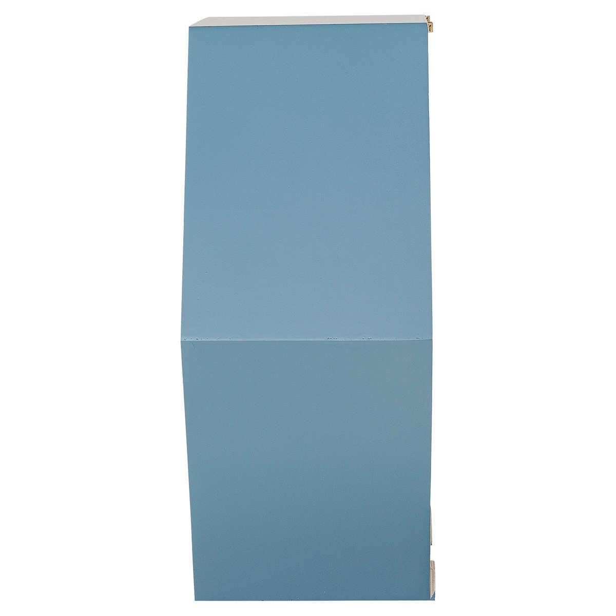 bloomingville etag re hexagonale bois bleu tag re bloomingville sur l 39 armoire de b b. Black Bedroom Furniture Sets. Home Design Ideas