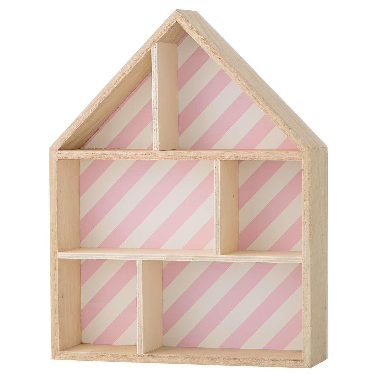 Étagère Etagère Maison à Compartiments - Bois/Rose Etagère Maison à Compartiments - Bois/Rose