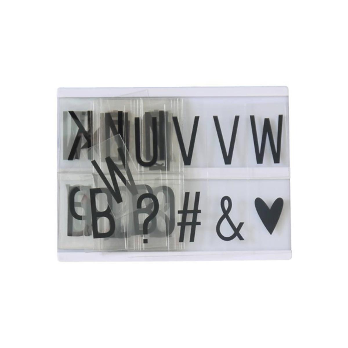 A little lovely company set de lettres noires suppl mentaires pour lightbox objet d coration a - Lettre pour lightbox ...