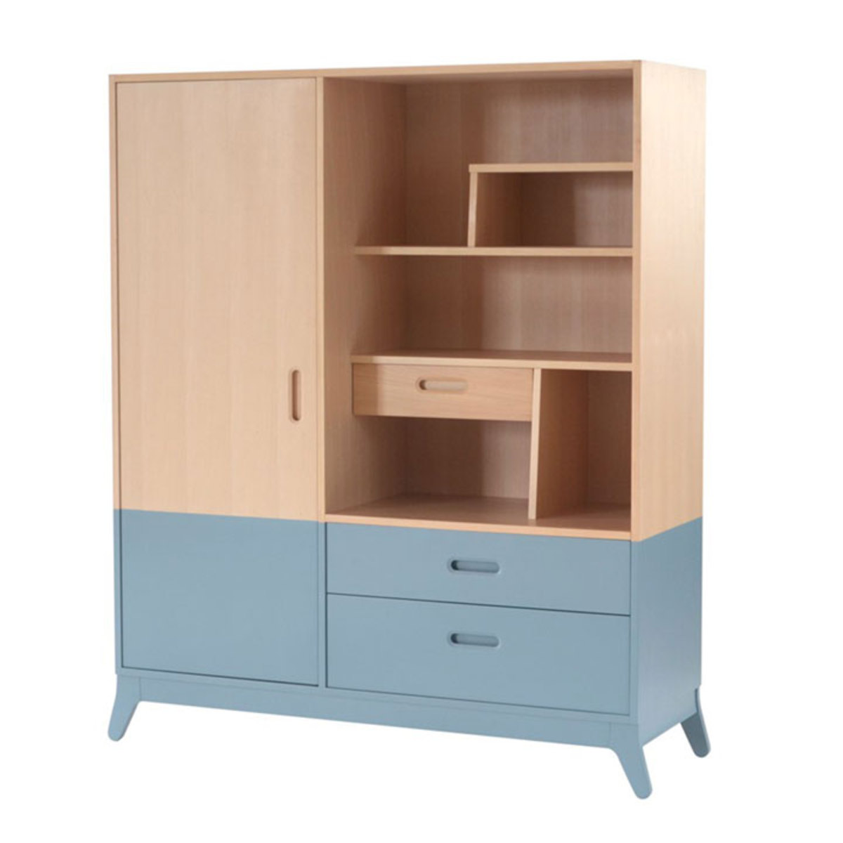 nobodinoz armoire horizon bleu thalassa armoire. Black Bedroom Furniture Sets. Home Design Ideas