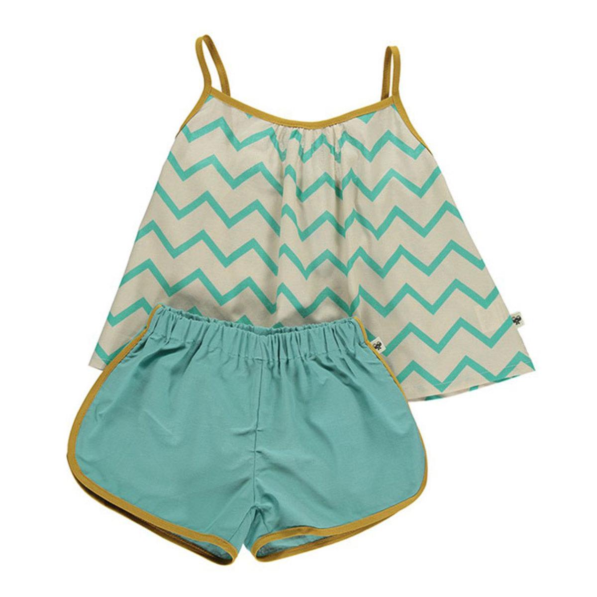 pyjama java zigzag vert 2 ans 2000000083421 achat vente pyjama sur. Black Bedroom Furniture Sets. Home Design Ideas