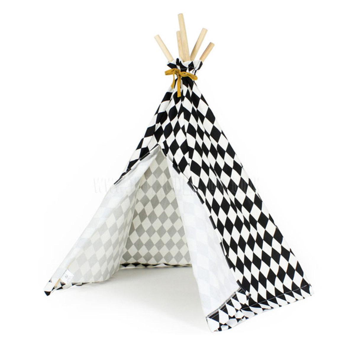mini tipi arizona losanges noirs 2000000063072 achat. Black Bedroom Furniture Sets. Home Design Ideas
