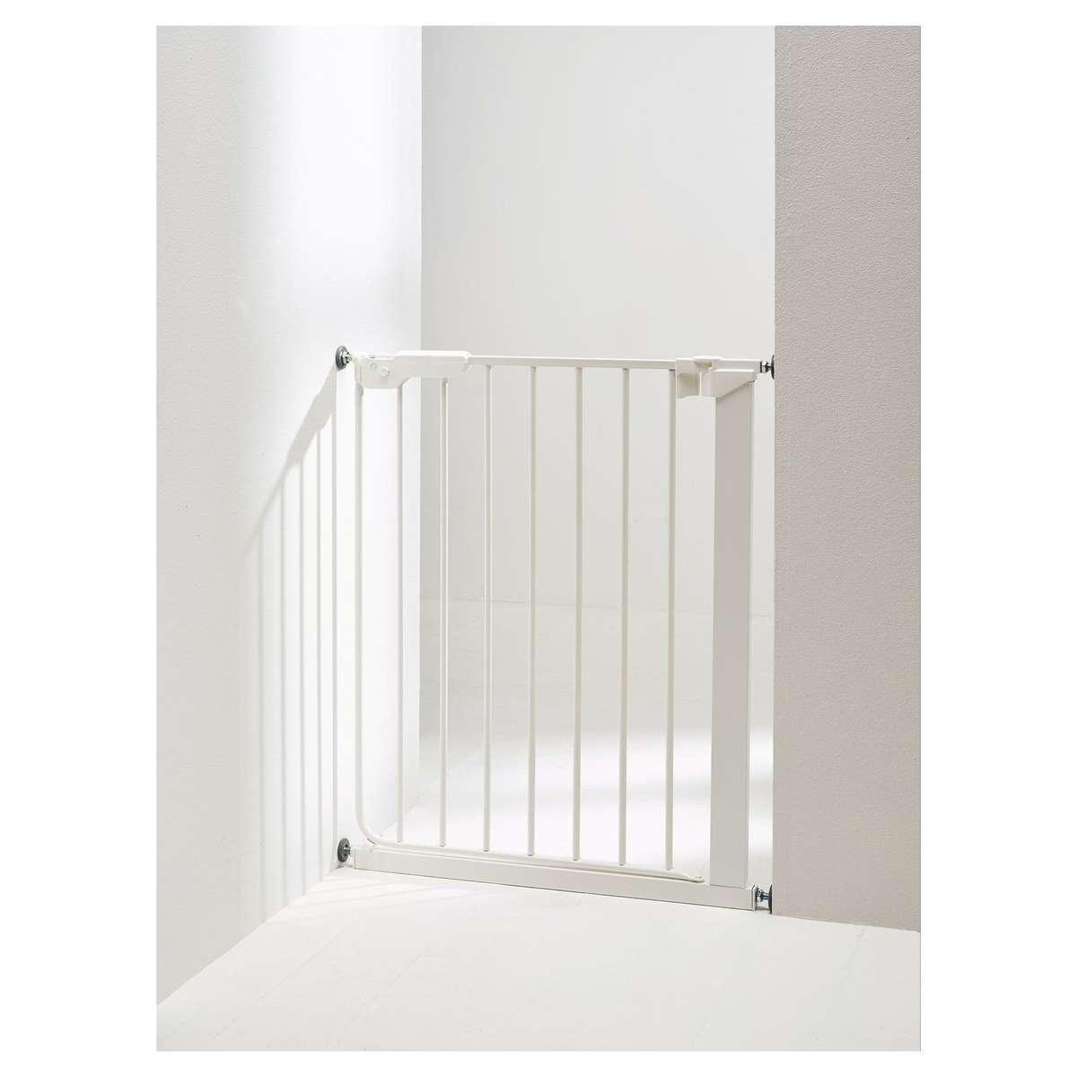 babydan barri re de s curit troite en m tal slimfit blanc barri re de s curit babydan sur. Black Bedroom Furniture Sets. Home Design Ideas