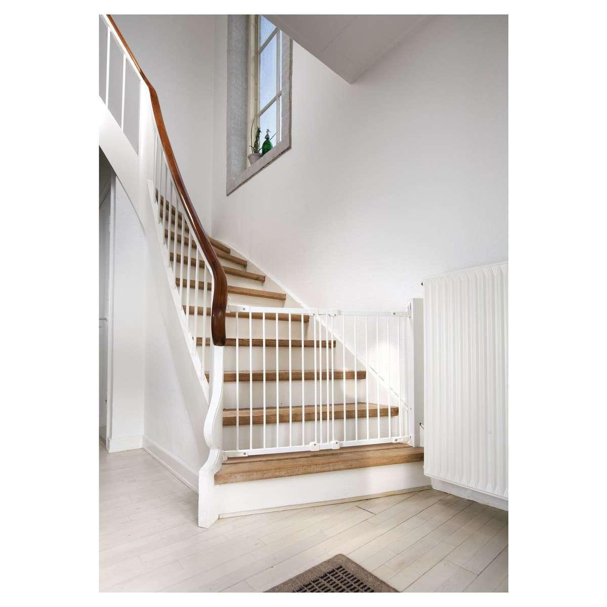 babydan barri re de s curit en m tal flexifit blanc barri re de s curit babydan sur l. Black Bedroom Furniture Sets. Home Design Ideas
