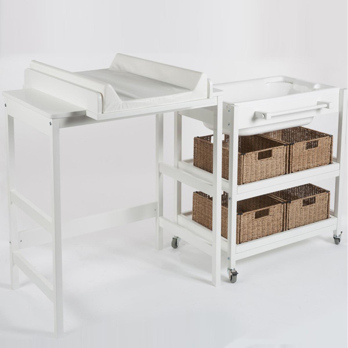 Quax meuble de bain smart confort blanc table langer for Meuble quax