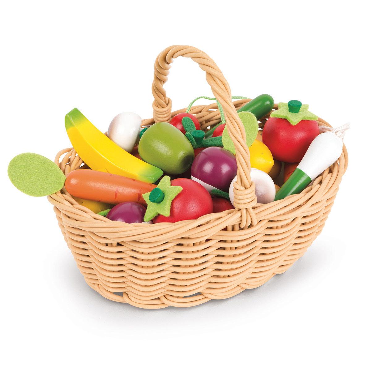 Mes premiers jouets Panier de 24 Fruits et Légumes Panier de 24 Fruits et Légumes