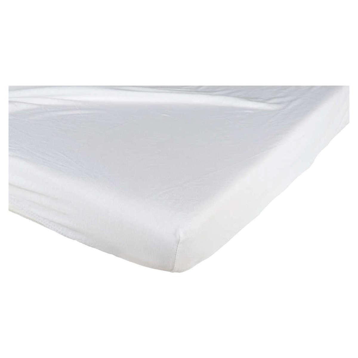 Linge de lit Drap Housse en Coton Blanc - 60 x 120 cm Drap Housse en Coton Blanc - 60 x 120 cm