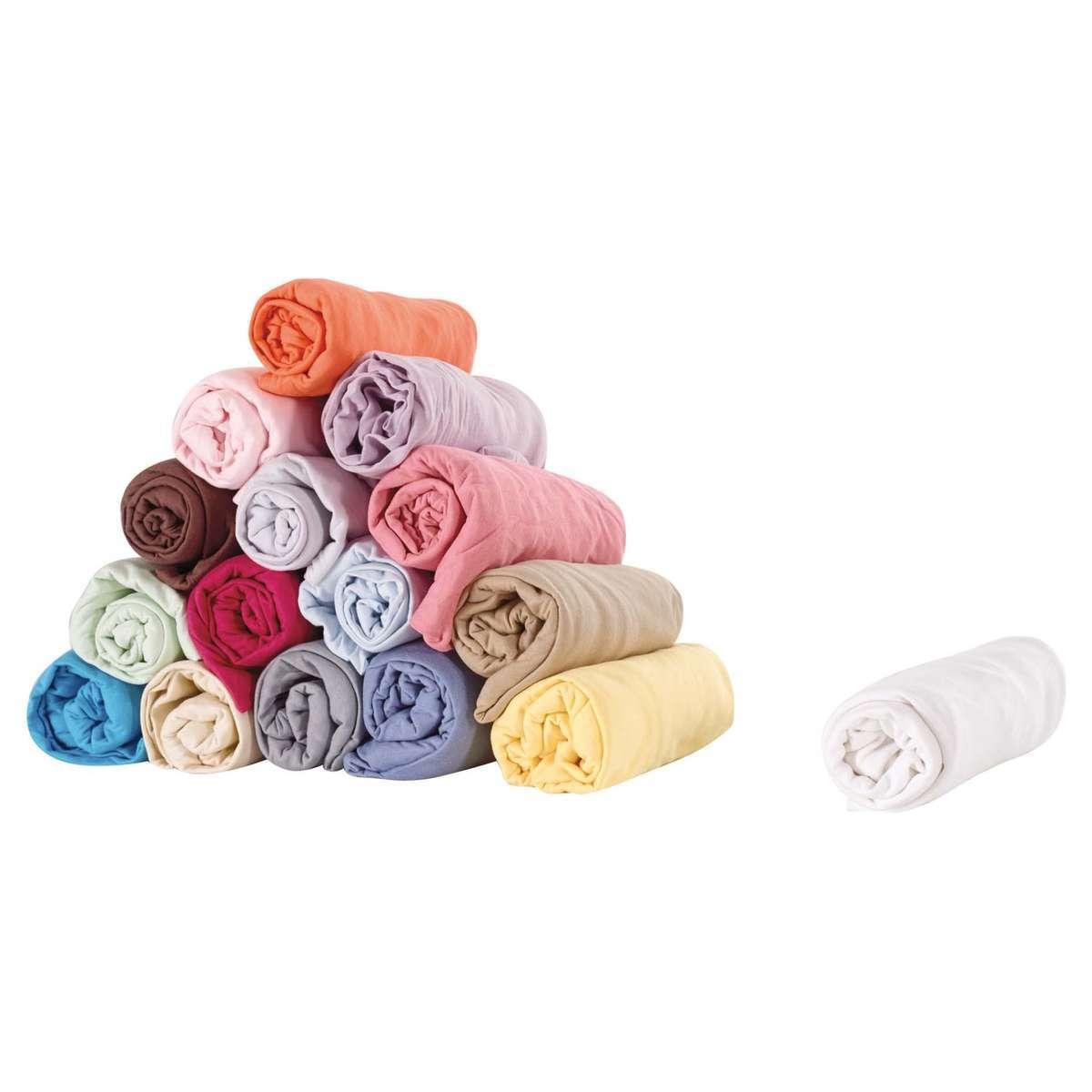 Candide drap housse en coton 60x120 cm blanc linge de for Drap housse 60x120