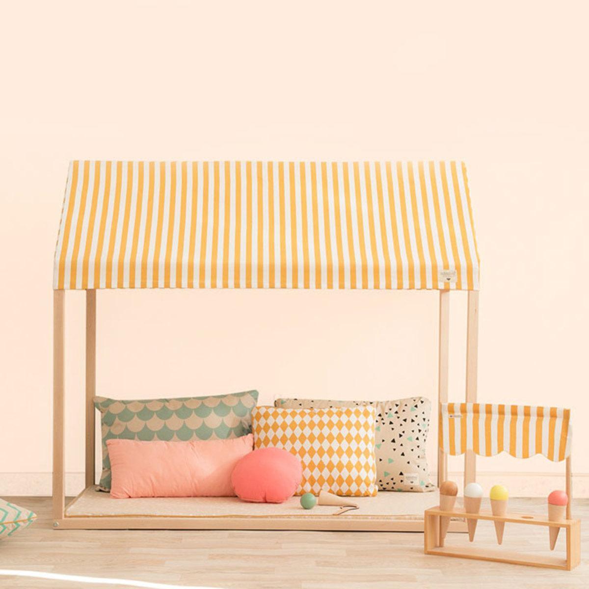 nobodinoz lit maison ibiza losanges miel lit b b. Black Bedroom Furniture Sets. Home Design Ideas