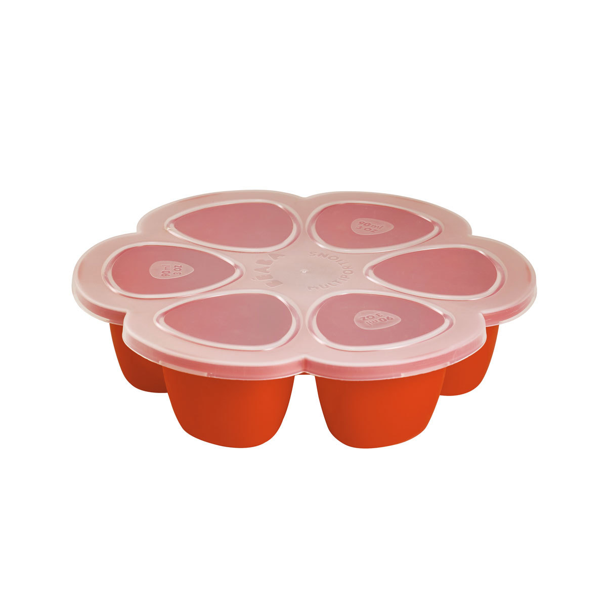 Vaisselle & Couvert Multi Portions Silicone 6 x 90 ml - Paprika Multi Portions Silicone 6 x 90 ml - Paprika