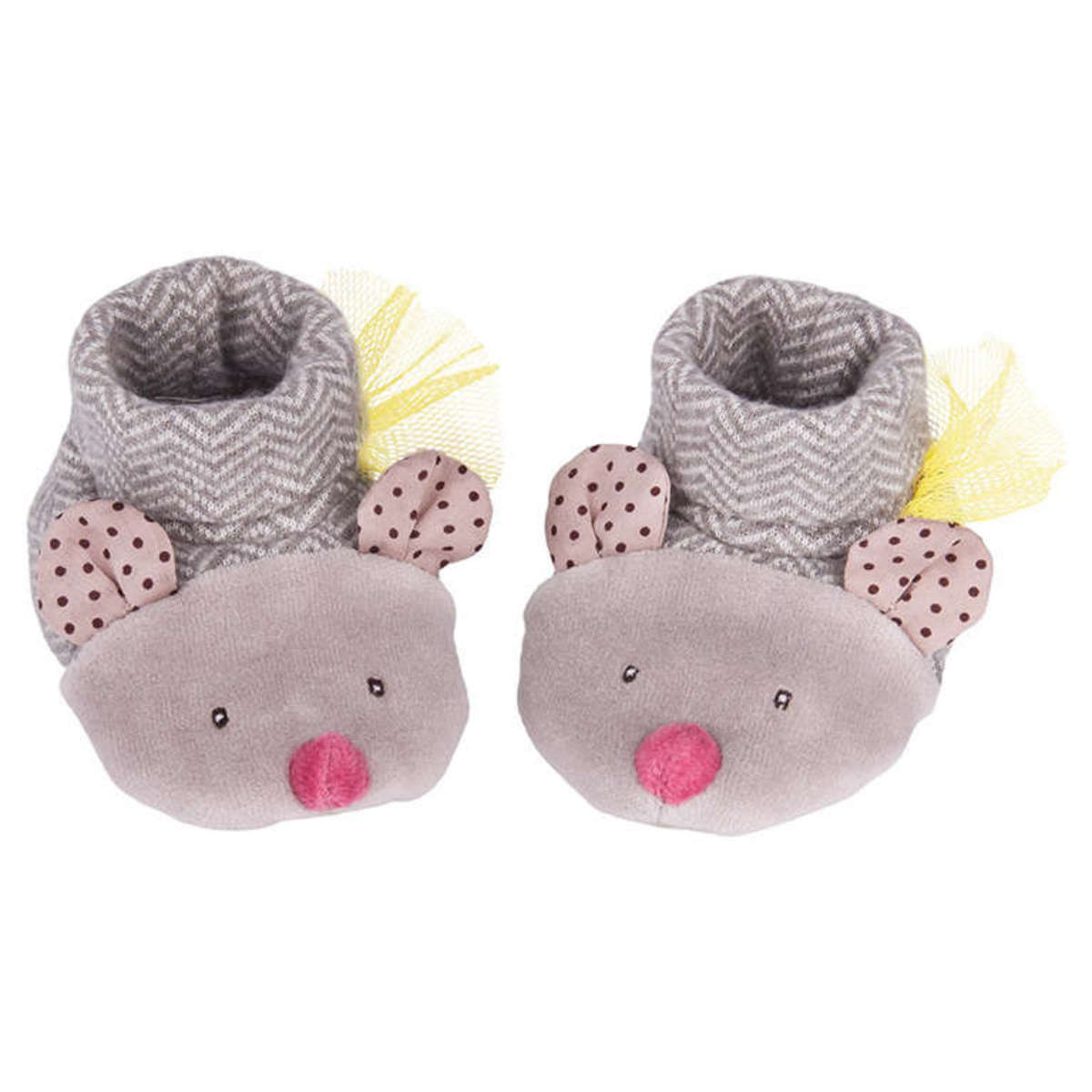 moulin roty chaussons souris gris les pachats chaussons chaussures moulin roty sur l. Black Bedroom Furniture Sets. Home Design Ideas