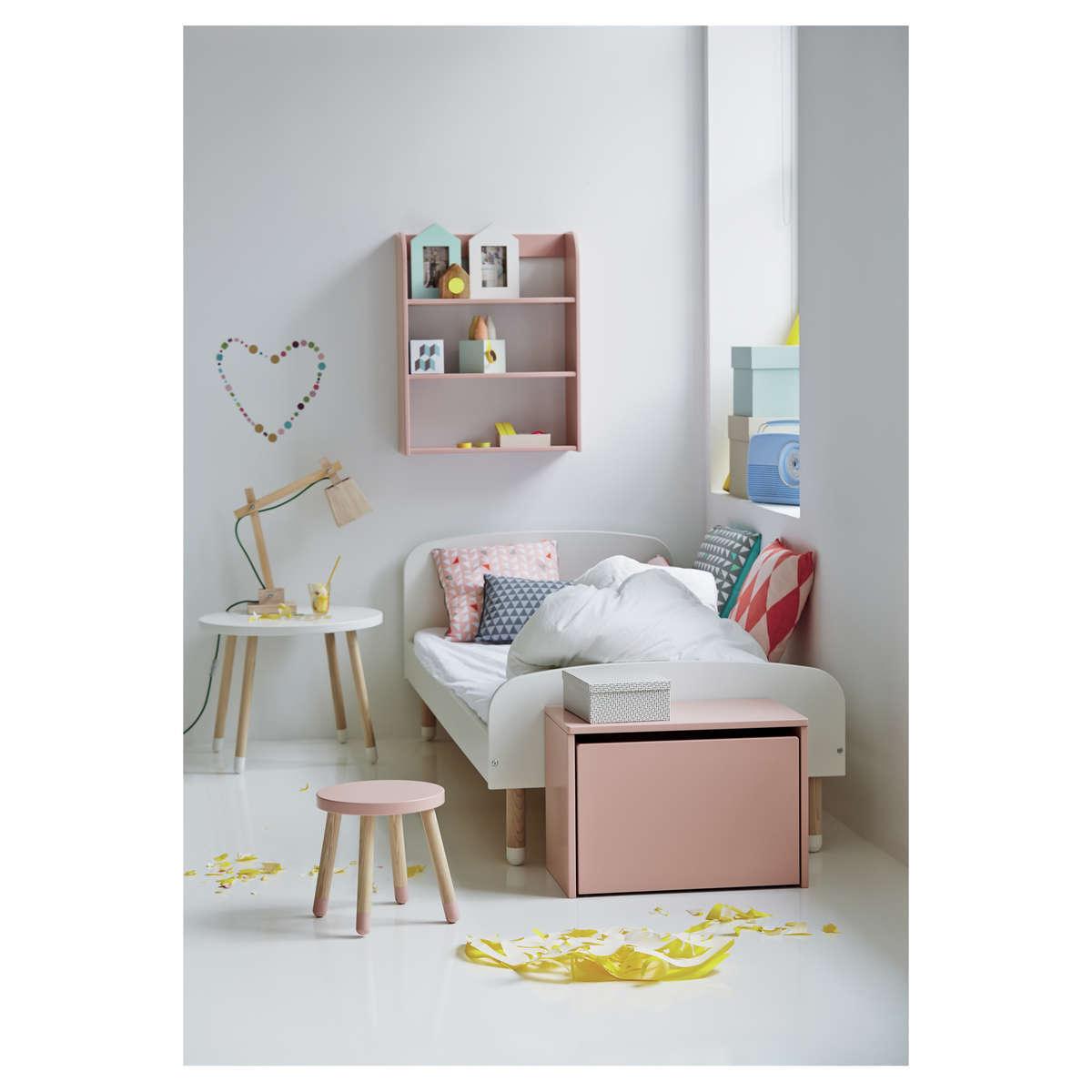 flexa coffre de rangement play rose rangement jouet. Black Bedroom Furniture Sets. Home Design Ideas
