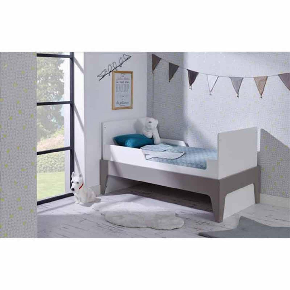 b b provence lit b b 70 x 140 cm paris evolutif barreaux blanc lin lit b b b b provence. Black Bedroom Furniture Sets. Home Design Ideas