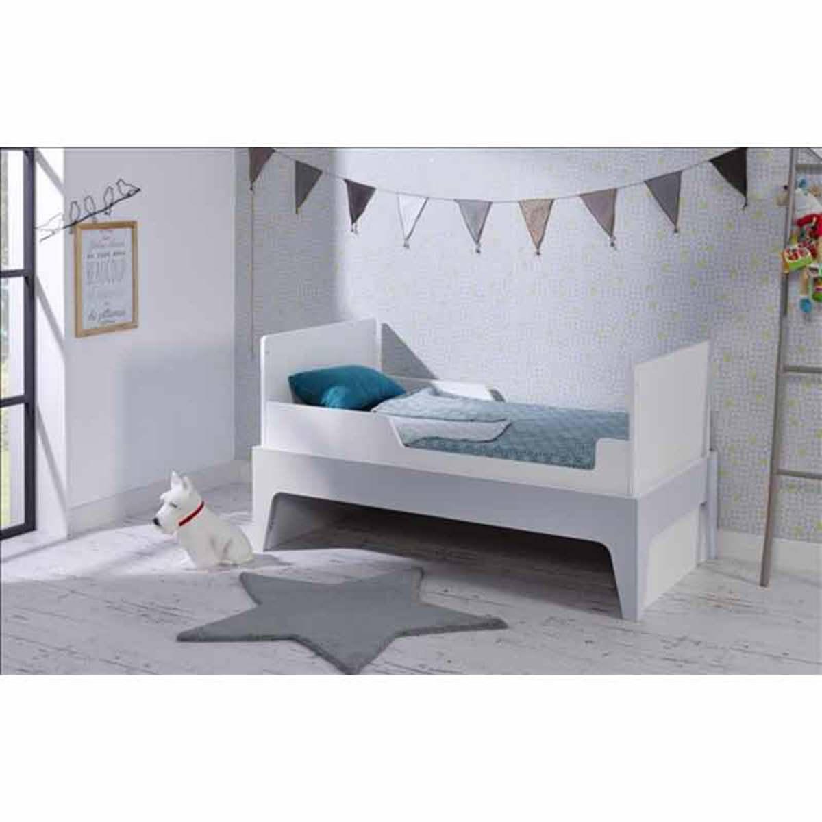 b b provence lit b b 70 x 140 cm paris evolutif barreaux blanc gris lit b b b b provence. Black Bedroom Furniture Sets. Home Design Ideas