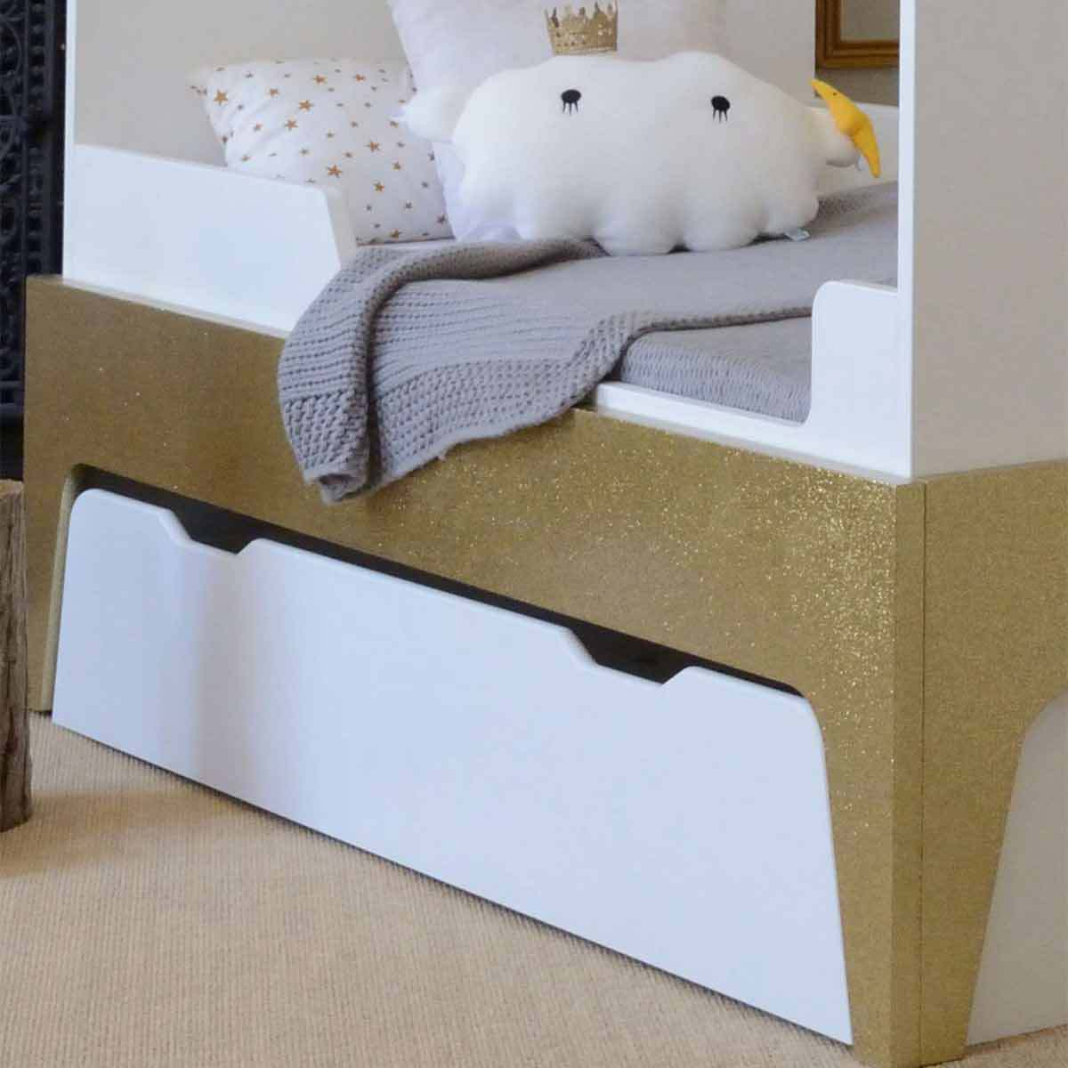 b b provence tiroir de rangement pour lit paris evolutif blanc lit b b b b provence sur l. Black Bedroom Furniture Sets. Home Design Ideas