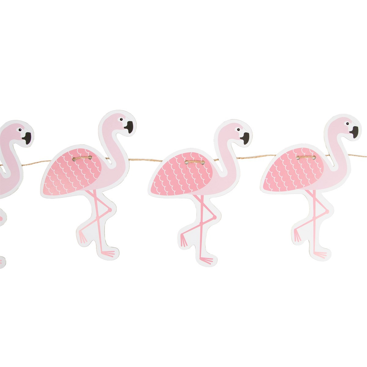 Objet décoration Guirlande Papier Flamants Roses Tropical Summer Guirlande Papier Flamants Roses Tropical Summer
