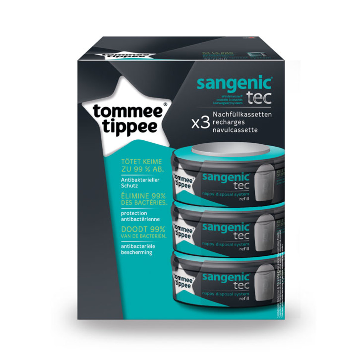 Tommee tippee recharge pour poubelle couches tec sangenic x 3 couche tommee tippee sur l - Recharges poubelle a couches sangenic ...