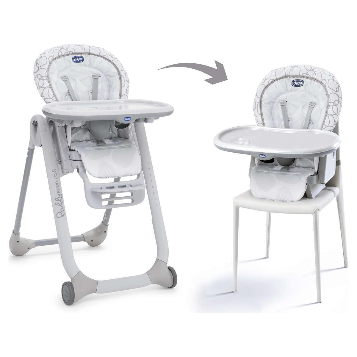 Top chaise haute polly progress grey pas cher with chaise for Chaise haute polly magic pas cher