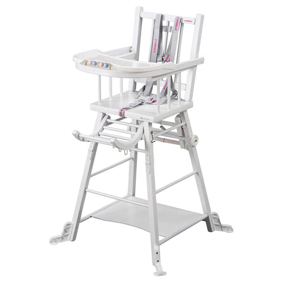 Chaise haute Chaise Haute à Barreaux Transformable Marcel - Blanc