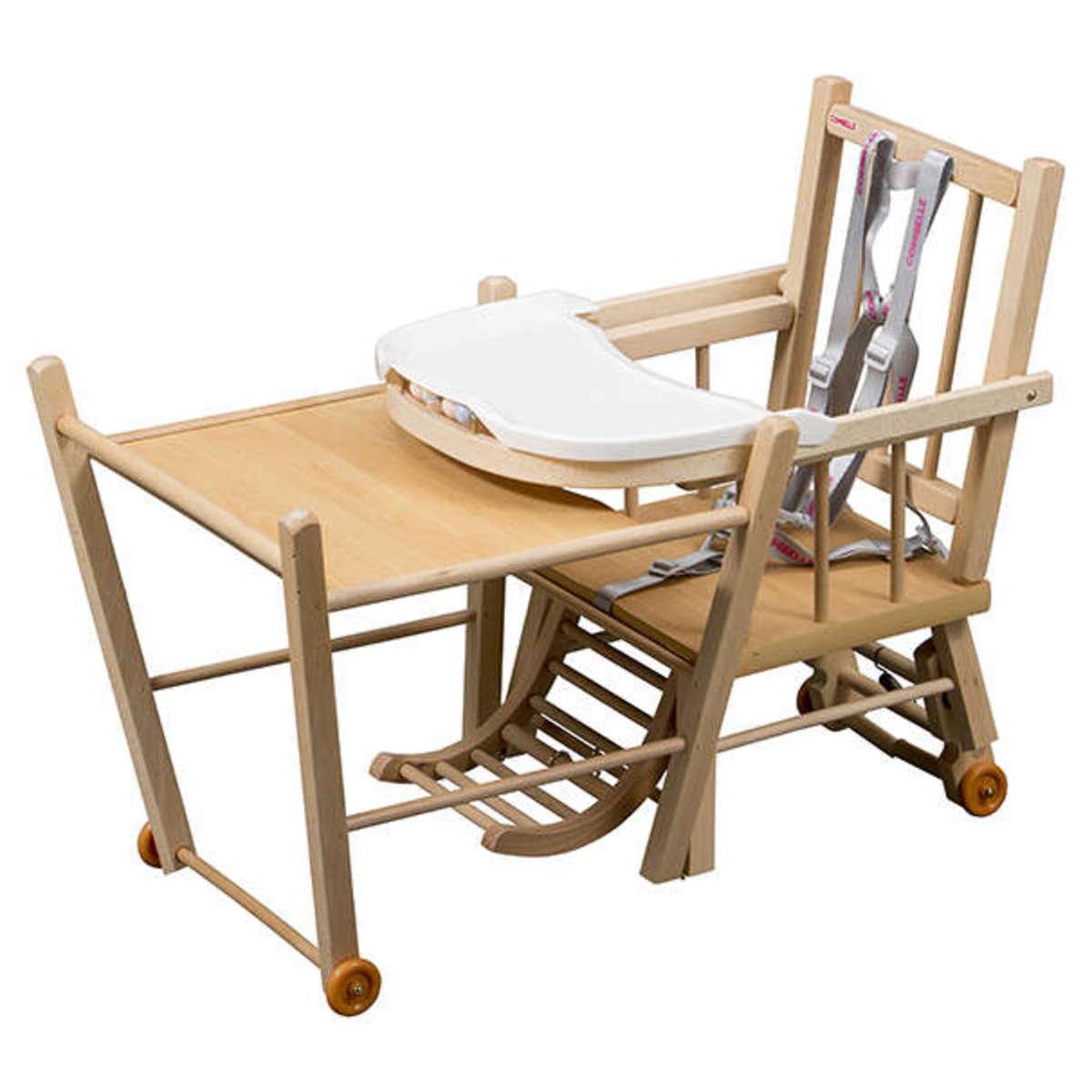 combelle chaise haute barreaux transformable marcel noir chaise haute combelle sur l. Black Bedroom Furniture Sets. Home Design Ideas