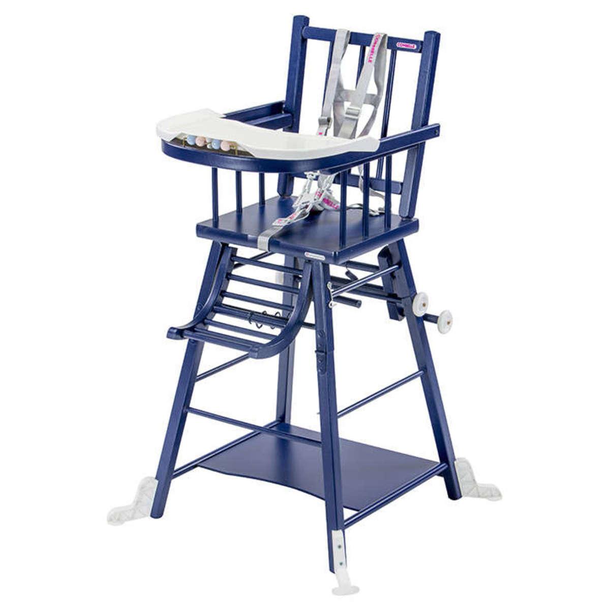 Chaise haute Chaise Haute à Barreaux Transformable Marcel - Bleu Chaise Haute à Barreaux Transformable Marcel - Bleu