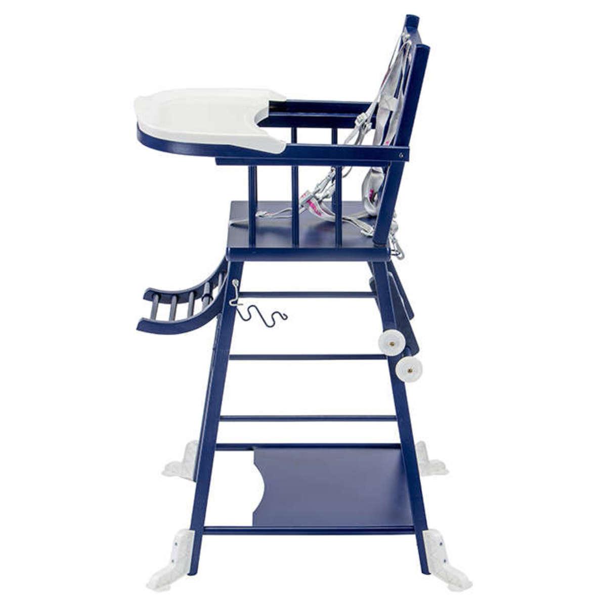 combelle chaise haute barreaux transformable marcel bleu chaise haute combelle sur l. Black Bedroom Furniture Sets. Home Design Ideas