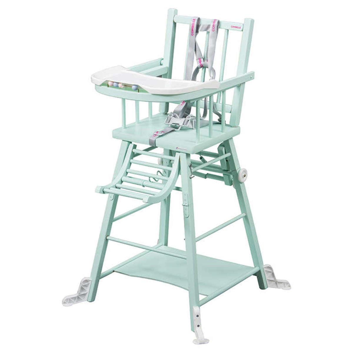 Chaise haute Chaise Haute à Barreaux Transformable Marcel - Vert Amande Chaise Haute à Barreaux Transformable Marcel - Vert Amande