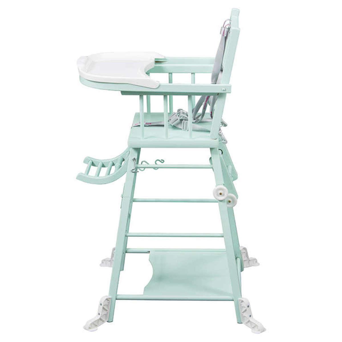 chaise haute 224 barreaux transformable marcel laqu 233 vert mint 34c achat vente chaise